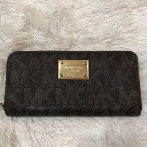 Michael Kors brown leather Hamilton Wallet